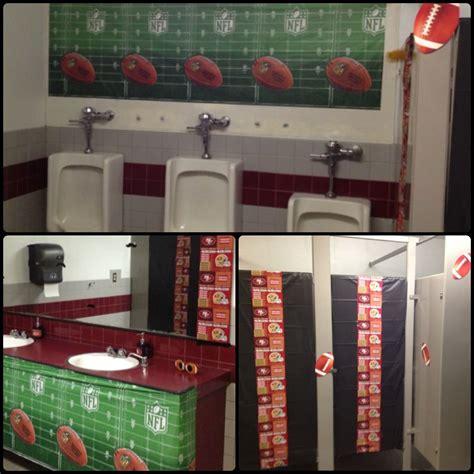 Football Themed Bathroom 49ers!  I'm Ready To