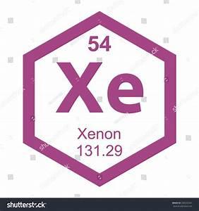 Periodic Table Xenon Element Stock Vector 330532241 ...
