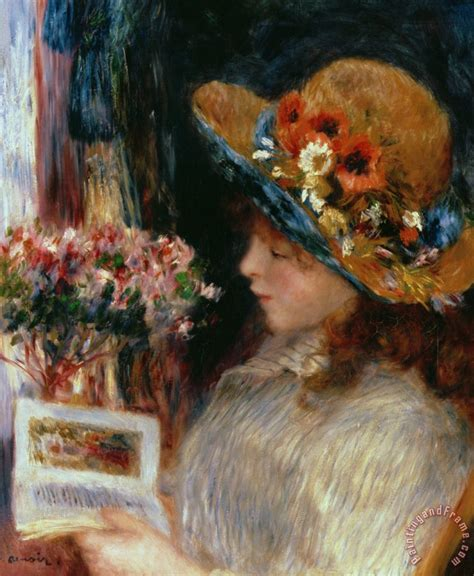 Pierre Auguste Renoir Young Girl Reading Painting Young