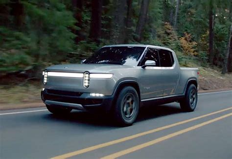 rivian rt electric truck tesla competition lavender