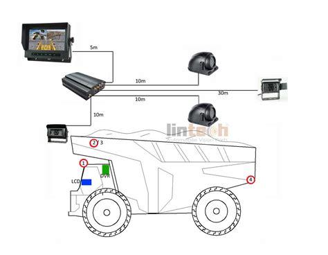 7 quot heavy duty cameras dvr cctv system for mining trucks
