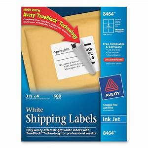 printer With avery large shipping labels