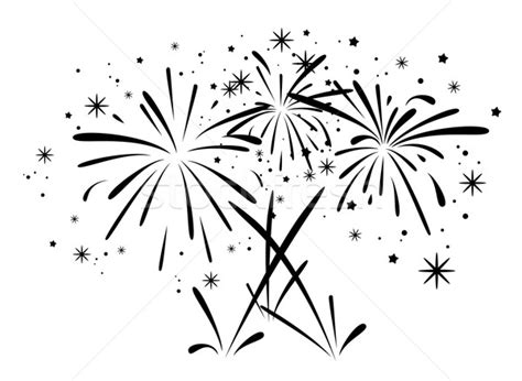 firework clipart black and white vector abstract black and white bursting fireworks vector