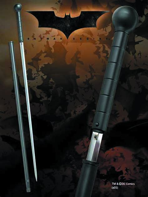 batman begins cane sword by noble collection darkside