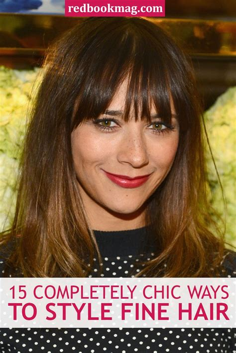 ways to style thin hair 15 completely chic ways to style hair hair and 1334