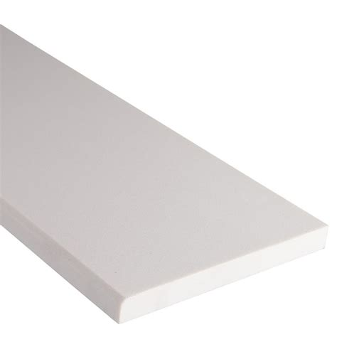 white threshold ms international white single bevelled 6 in x 54 in engineered marble threshold floor and wall