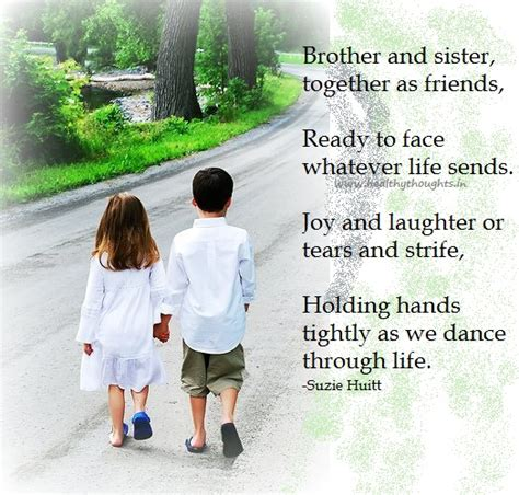 Brother And Sister Quotes Siblings. Quotesgram