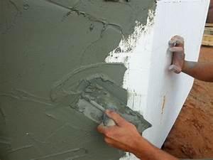 Enduit finition ecrasee pour facades mur exterieur muret for Enduit pour mur exterieur