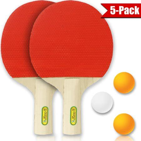 table tennis 2 player accessory kit 4 pc 2 paddles and 3 ping pong balls by bogo brands