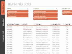 Employee Training Tracker Templates Employee Training