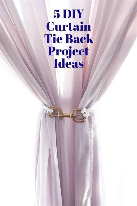 make it 5 diy curtain tie backs