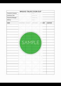 Petty Cash Log Sheet Professional Film Production Forms