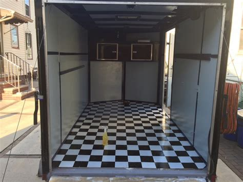 checkered vinyl flooring for trailers checkered flag trailer flooring floor matttroy