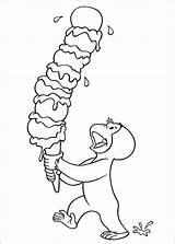Curious George Coloring Ice Malvorlagen Cream Printable Colouring Curioso Coco Stimulate Skills Motor Fine Affe Ausmalbilder Eis Come Kinder Colorare sketch template