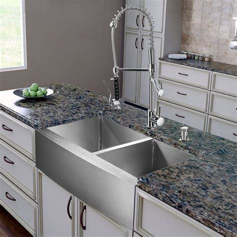 VIGO VG15269 All in One 36 inch Farmhouse Stainless Steel