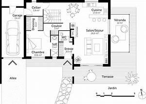 plan maison a etage de 110 m2 avec veranda ooreka With plan maison etage 100m2 0 plan de maison rectangulaire avec etage