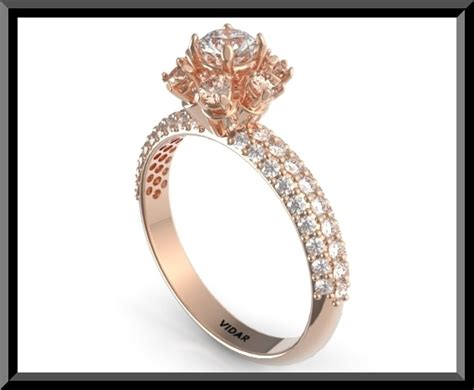 diamonds with brilliant moissanite flower shaped engagement ring ebay