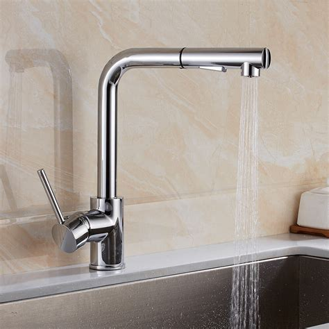 kitchen mixer tap sink singapore taps spray pull basin modern spout dual faucet brass