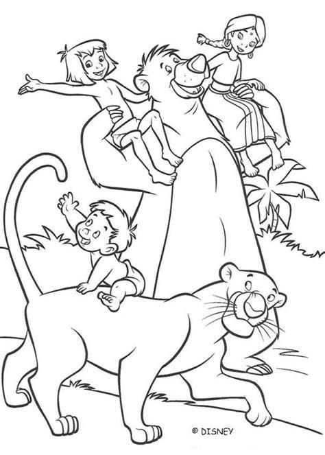 ranjan shanti baloo  mowgli coloring pages