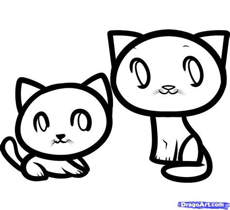 How To Draw Cats For Kids, Step By Step, Animals For Kids
