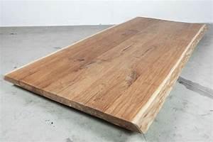Tischplatte Massivholz Baumkante : eiche tischplatte massiv 220x107x5cm unikat 22112 ~ Indierocktalk.com Haus und Dekorationen