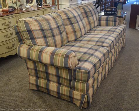 blue plaid sofa new home furniture