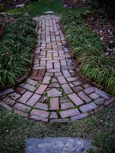 brick pathways brick path patio and walkways pinterest