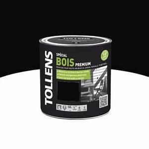 Peinture Bois Exterieur Tollens : peinture bois ext rieur int rieur noir 0 5 l castorama ~ Dailycaller-alerts.com Idées de Décoration