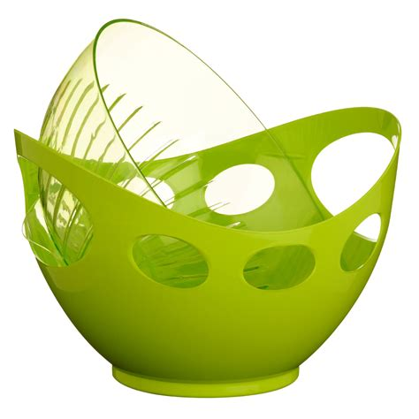 Brand New Plastic Strainer Bowl Chopping Board Lime Green