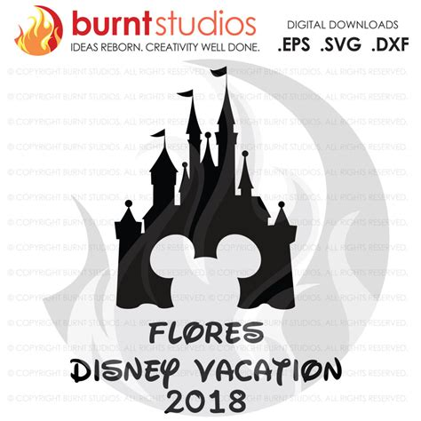 Disney world vacation packages include your disney on property resort room, your disney park tickets, and the disney dining plan. SVG Cutting File, Disney Castle Mickey Head, Customized ...