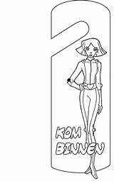 Coloring Hanger Door Pages Spies Totally Deurhanger Doorhangers Crafts Coloringpages1001 Fun Doorhanger sketch template