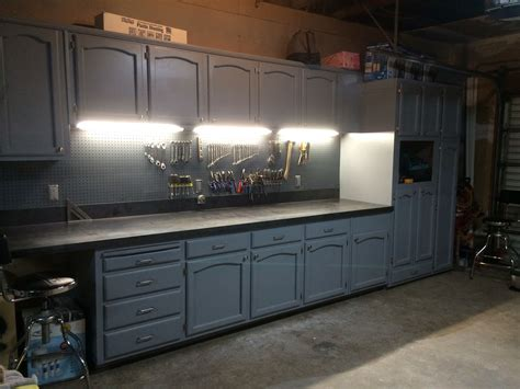 Garage Cabinets Craigslist by Refurbished Kitchen Cabinets For The Ultimate Work Bench