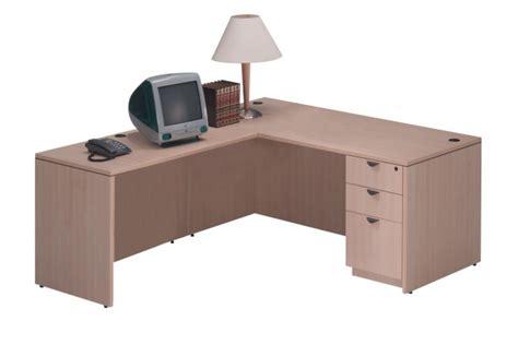 bureau classique bureau retour classique avec choix de caissons simple ou