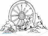 Wagon Wheel Template Coloring Drawing Pages Sketch sketch template