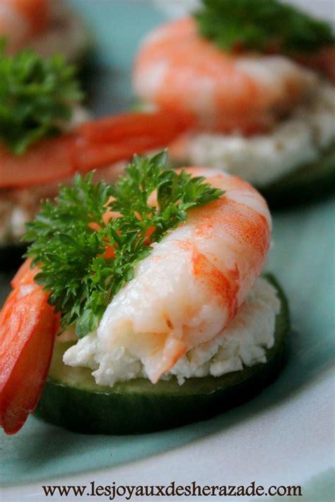 recette canapé apéro recette amuse bouche crevettes les joyaux de sherazade