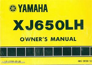 1981 Yamaha Xj650lh Midnight Maxim Motorcycle Owners Manual