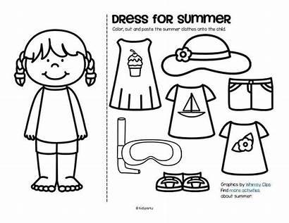 Clothes Coloring Boy Colorare Preschool Vacanze Activities