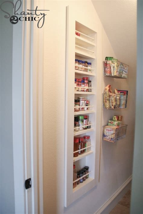 Recessed Spice Rack by Diy Built In Spice Rack Free Plans And Tutorial Shanty