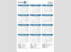 Kalendarz 2003