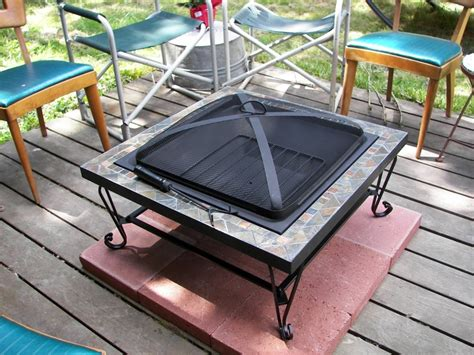 Fire Pit On Wood Deck