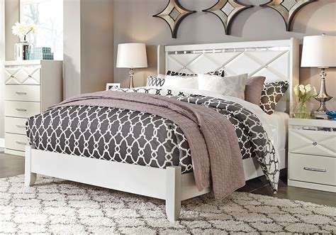 dreamur champagne queen panel bed