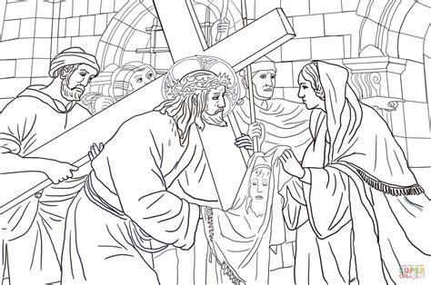 rosto de jesus cristo  colorir