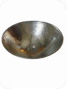 Vasque 35 Cm : vasque maillechort argent e vasque ronde poser en ~ Edinachiropracticcenter.com Idées de Décoration