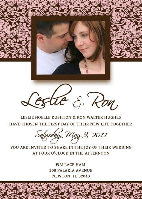 Homemade Wedding Invitation Template