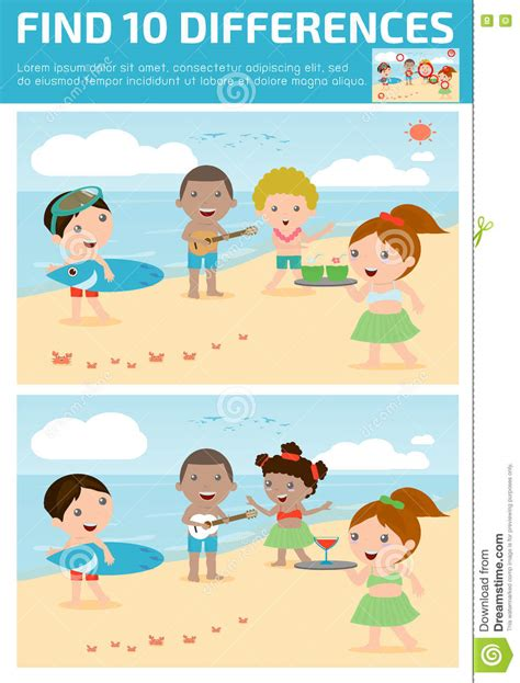 find differences for find differences brain 821 | find differences game kids find differences brain games children game educational preschool vector 73228882