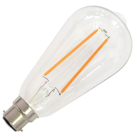 dimmable led light warm white 4w 40w b22 bayonet filament dimmable led bulb
