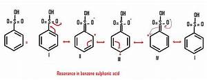 Q 1 - Draw All The Possible Resonatic Structure For Benzene Sulphonic Acid - Chemistry
