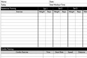 Weight Lifting Workout Log Printable