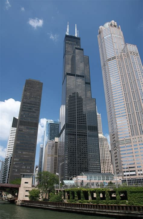 Willis Tower Observation Deck Wait Time by Imposing And Majestic Willis Tower In Chicago Illinois