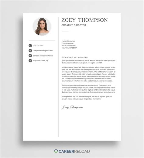creative cover letter template free photoshop cover letter templates free